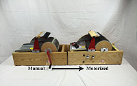 Motorize manual drum carder