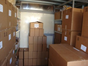 Look at all those boxes! Filled with carders, swifts, and winders for our customers.