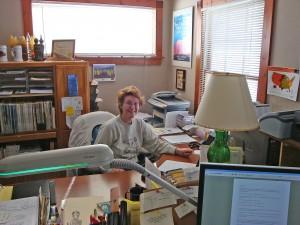 Joanne in the office!