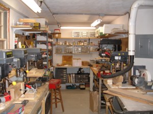 A photo of the lower shop up and running.