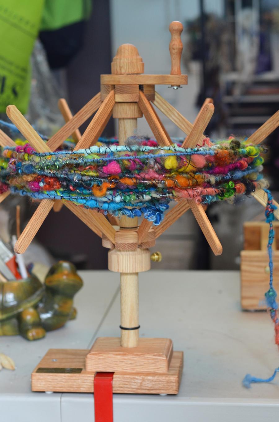 strauch swift and Jazzturtle handspun yarn