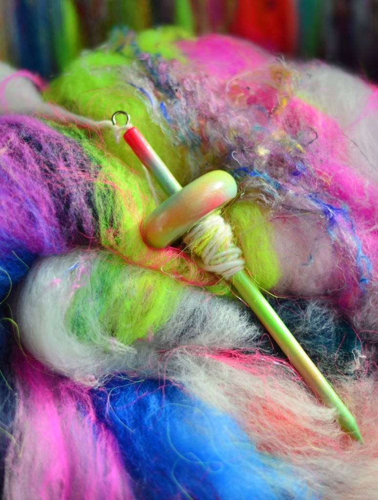 Elysa Darling | 222 Handspun handspinning art batt - Strauch Mad Batt'r Drum Carder - Strauch Fiber