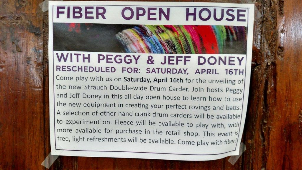 Flyer used to advertise the open house