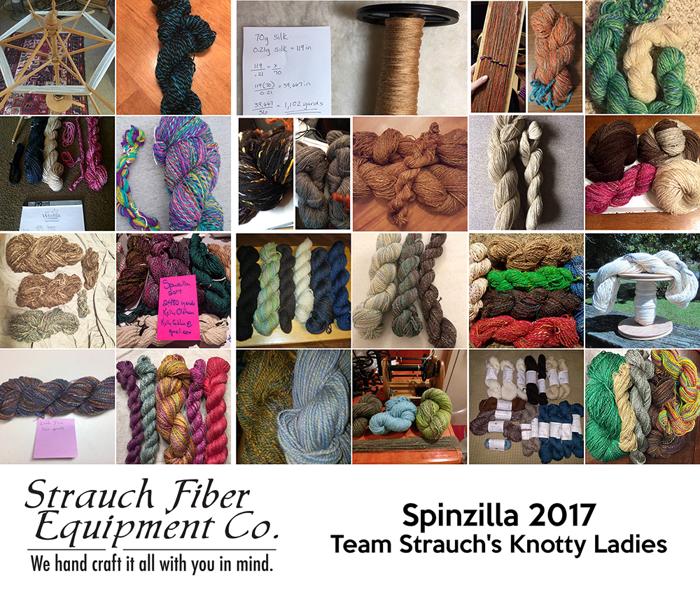 Spinzilla 2017 Strauch's Team Knotty Ladies