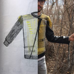 From concept to reality: jacket made with handblended and handspun yarn.