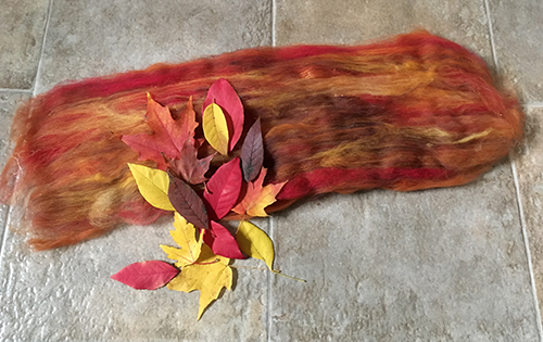 Autumn Leaves Batt Color Inspiration - Strauch Fiber Equipment Blog