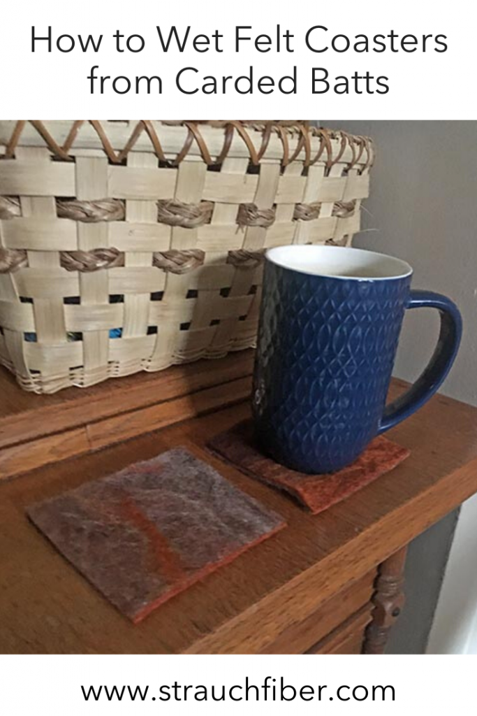 How to Wet Felt Coasters from Carded Batts