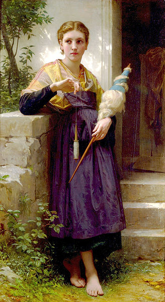 The Spinner by William-Adolphe Bouguereau [Public domain]