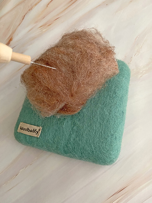 How to make a felted pin cushion from a carded batt