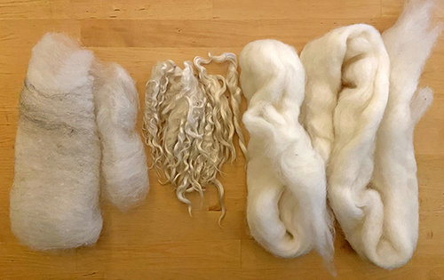 A selection of undyed fibers.