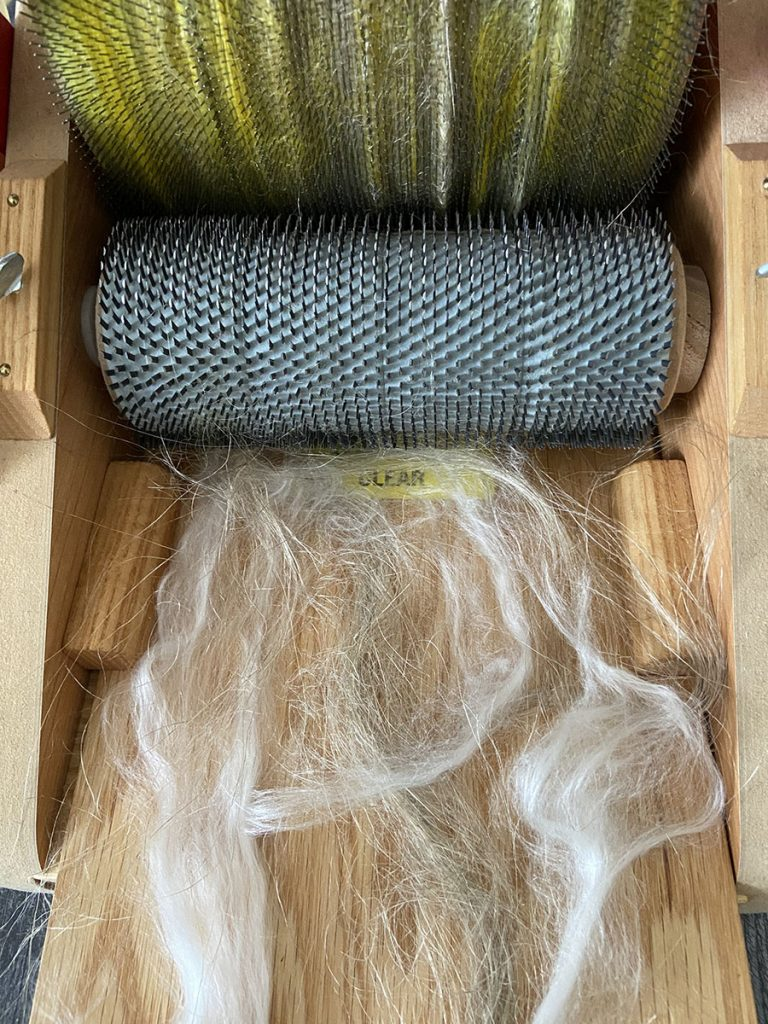 Summer Batt Experiment: Can You Card Flax Fiber?