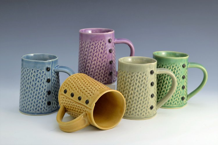 Knitted Mugs by Charan Sachar